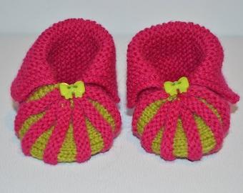 baby pumpkin booties