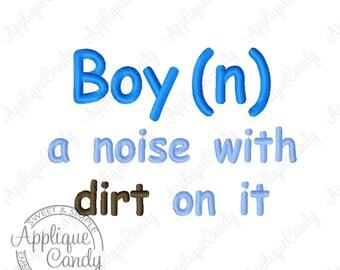 Boy Definition Machine Embroidery Design 3x3 4x4 5x7 6x10 Define Saying INSTANT DOWNLOAD