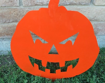 Halloween Lawn Pumpkin, Jack O' Lantern, Pumpkin, Orange Pumpkin, Metal Pumpkin, Garden Decor, Halloween Decor, Aluminum