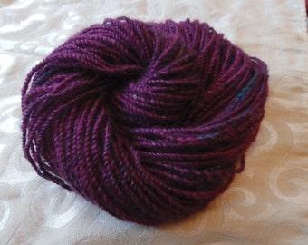 Dark Whispers handspun coopworth, alpaca and merino yarn with sparkle, 100 yards worsted weight