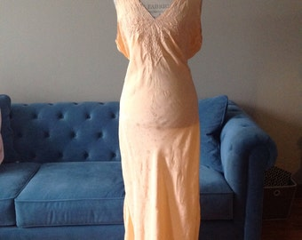 Vintage peach handmade in Japan nightgown.