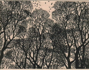 background  Rubber  Stamp Tree   cling stamp unmounted or wood mounted stamp 6485