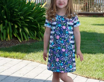 Mandrake Dress PDF pattern 12m-8 girls knit dress pattern