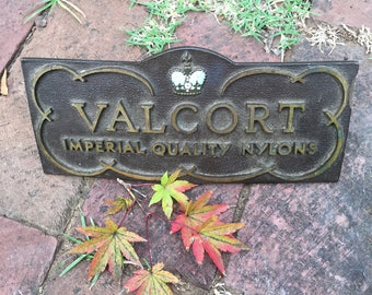 Vintage Valcort Imperial Quality Nylons Metal Store Sign