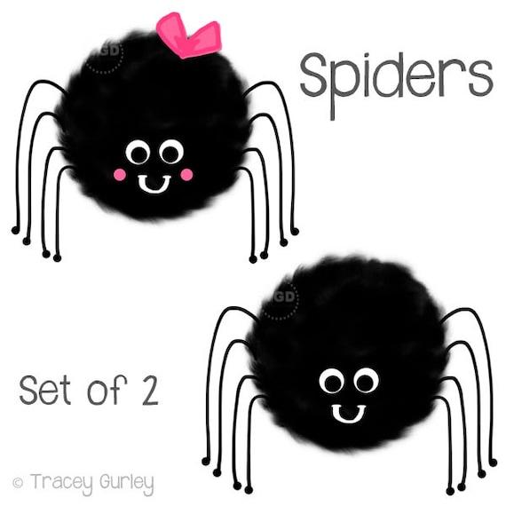 cute spider clipart hand painted clip art halloween clip rh etsy com cute spider clipart black and white cute spider clipart