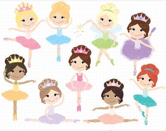 Clipart - Little Ballerinas - Digital Clip Art (Instant Download)