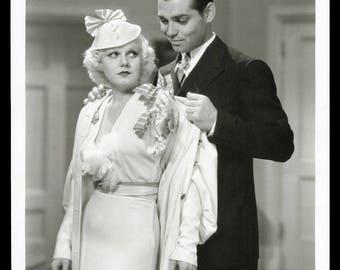 JEAN HARLOW Clark GABLE original 1933 movie still photo Hold Your Man