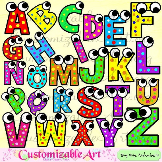 Alphabet clipart digital alphabet clip art images upper case - Lettres alphabet originales ...