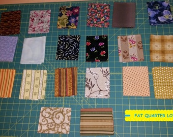 20 Piece Fat Quarter Fabric Bundle~Quilting/Sewing/Crafting ~100% Cotton~Lot #9