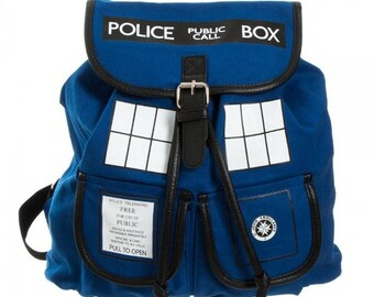Doctor Who TARDIS Knapsack Backpack - Police Box (that's actually a bag)