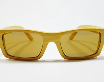 SM Bamboo Sunglasses, Wood Frame Glasses, Wooden Eye Glasses, Wood Sunglasses, Wooden Gift for Dad, Wood Glasses, Floating Sunglasses