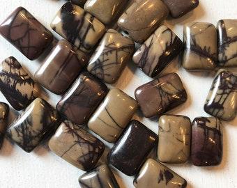 14 x 10mm Smooth Purple Creek Stone Puff Rectangles