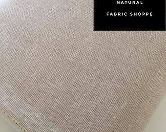 Essex Linen Homespun, Linen Blend fabric, Essex Yarn Dyed, Apparel Fabric, Dress fabric, Yarn Dyed fabric, Essex Homespun in Natural