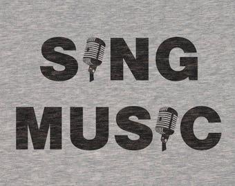 "Plotterfile ""Sing"" & ""Music"" shirts [dxf, SVG]"