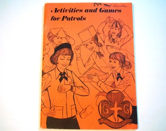 4 Vintage Activities and Games for Patrols Scouts Girl Guides WAGGGS Compass Mapping Outdoor Indoor Quick Games Longer Group Games Scavenger