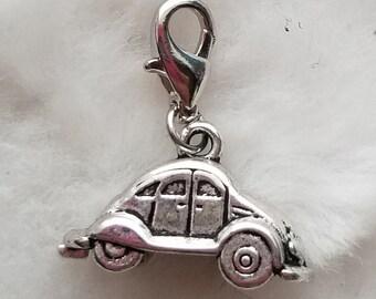 VW Slug Bug Car Charm - Clip-On - Ready to Wear