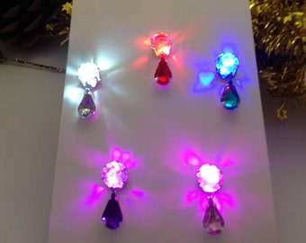 Best gift! LED light-up earrings. Free extra batteries. Carefully tested before shipping.