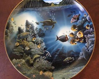 Danbury Mint Underwater Paradise Collectors Plate