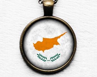 Cyprus Flag Pendant & Necklace