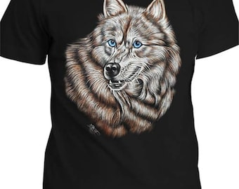 hand painted t shirts . wolf t shirt