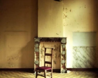 """Neglected Beauty, Surreal Fine Art Print, Abandoned Building, Belgium architectural, color photography """"Too Perfect"""""""