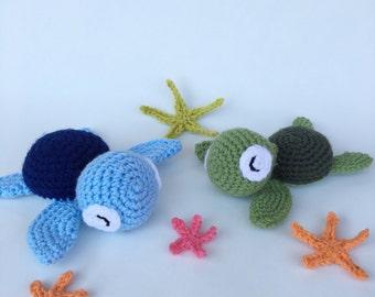 Crochet Sea Turtle - Crochet Turtle - Amigurumi Turtle - Sea Turtle - Turtle Plushie - Sea Creature - Stuffed Toy - Toy Turtle