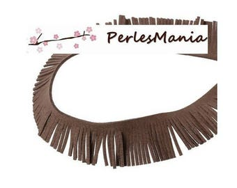 BROWN suede fringe trim 20cm TAUPE creating TASSELS 50mm