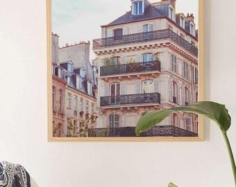 """Nostalgic Paris Prints // Paris Bedroom Art // Paris Architecture // Square Format Prints Paris Art // Paris, Europe  - """"Paris Rooftops"""""""