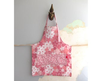 Toddler Apron with pockets - pink floral