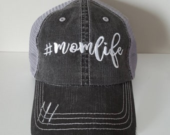 Mom Life Embroidered Hat with Choice of Thread Color
