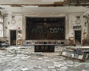 Abandoned Theatre, Decayed, Forgotten, Abandoned Building, Hospital, Modern Home, Office Decor, Rural, Broken, Urban Exploration, Maryland