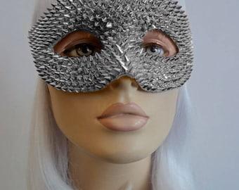 Silver Spikes Masquerade Mask
