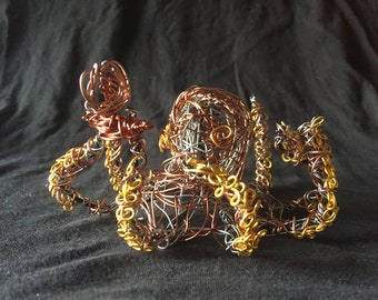 Wire Octopus with Small Boat