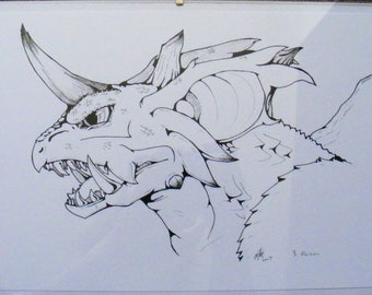 Nidoking and Nidoqueen original Ink drawings