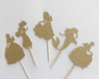 Disney Princess Cupcake Toppers - 12Count