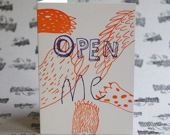 Open Me Letterpress Card