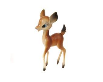 Plastic Deer Figurine, Vintage Reindeer, Christmas Decor, Retro Deer, Vintage Deer, Doe, Bambi Deer, Kitsch Deer, Fawn