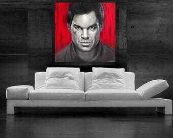 Dexter Painting Pop Art Canvas Print