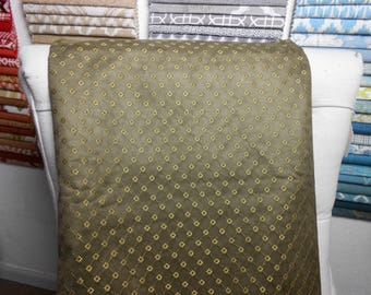 Olive Suede Embroidery Remnant Fabric, 3.8 Yard Piece, Upholstery, Bedding, Home Decor