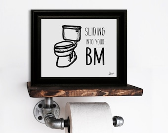 "Bathroom ""BM"" Print"