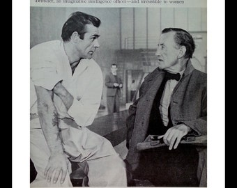 Sir Connery.  Men want to be like him; women just...want him.  Sean Connery with Creator Ian Fleming.  James Bond 007.  Ready for Framing.