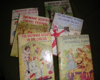 Mildred Wirt Authored Brownie Scouts Series Books 1 thru 6