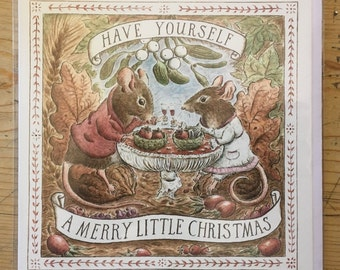 Have Yourself A Merry Little Christmas, Christmas card, greetings card