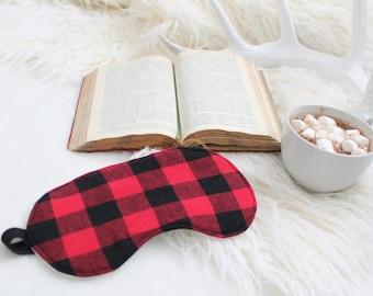 Lumberjack Flannel Sleep Mask 100% Cotton Unisex Eye Pillow Gift for Him
