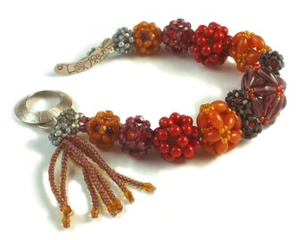 Tutorial Bead Jewelry PDF Pattern, Beaded Bead Bracelet