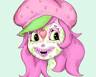 Sugarberry Skullcake Fine Art Print