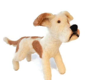 Custom Dog Sculpture,Needle Felted Dog - Pit Bull Terrier. Staffie, Staffordshire bull terrier  or any breed  of Your Choice Made To Order