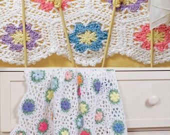 Flower Garden Motif Afghans Set Crochet Pattern PDF