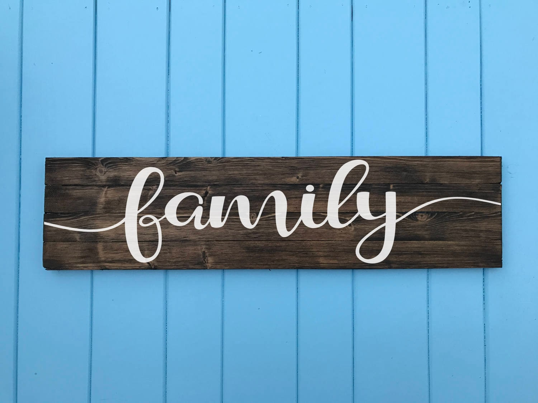 Family Sign Family Wood Sign Living Room Decor Family