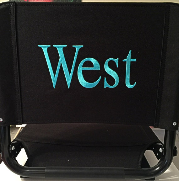 Embroidered Stadium Chair (Seat) with Custom Embroidery. Soccer Mom design